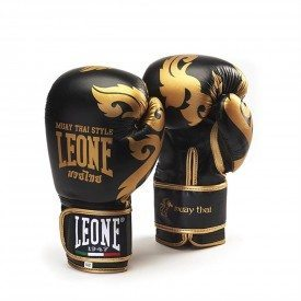 Leone1947 Boxing Gloves Muay Thai - Black - 10oz