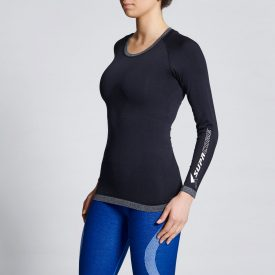 Womens-Long-Compression-Top-BlkL